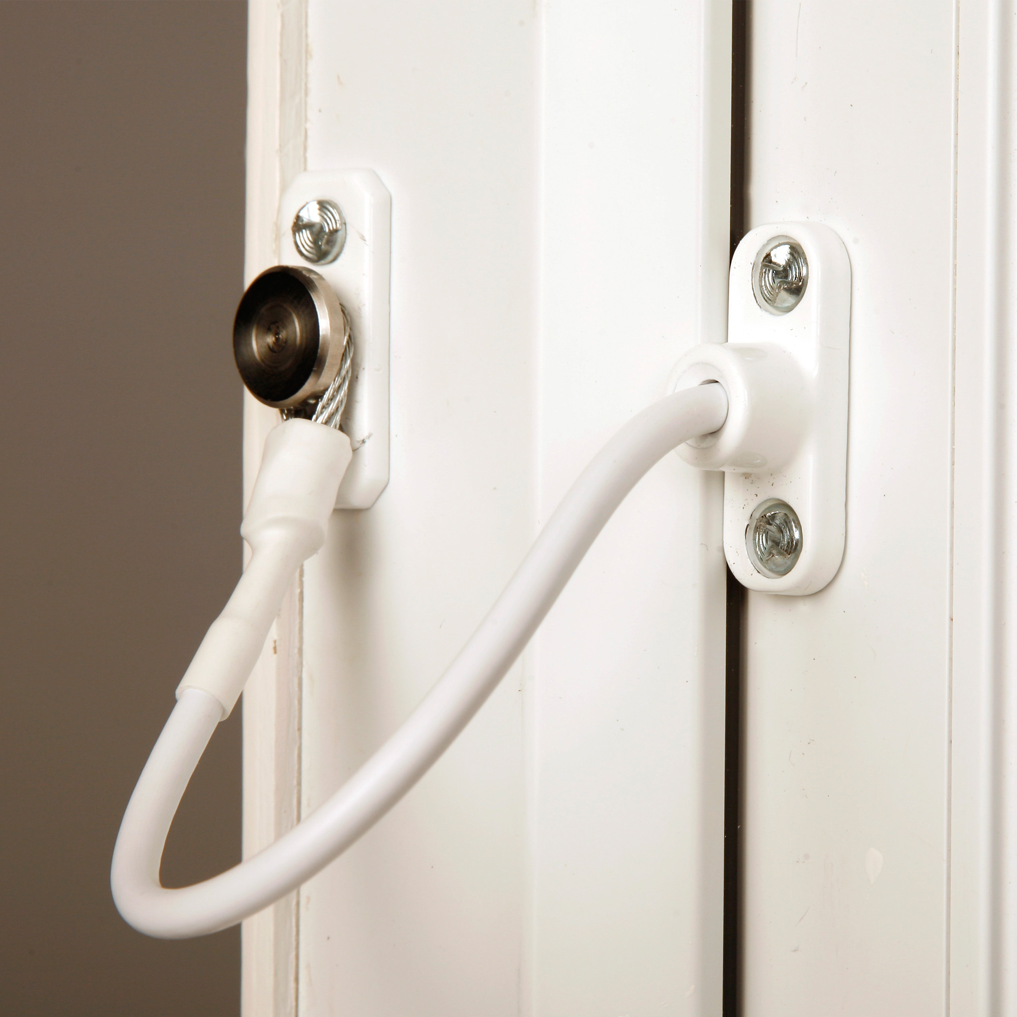 Jackloc Window Cable Door Child Safety Security Restrictor White 200m Steel Cord